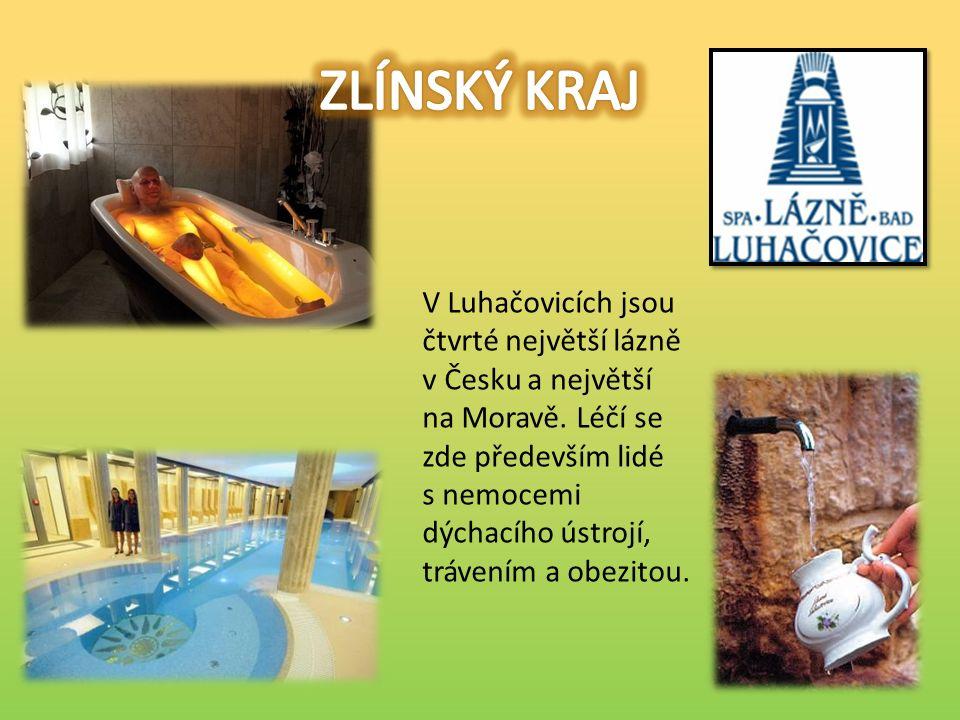 V Luhačovicích jsou čtvrté největší lázně v Česku a největší na Moravě.