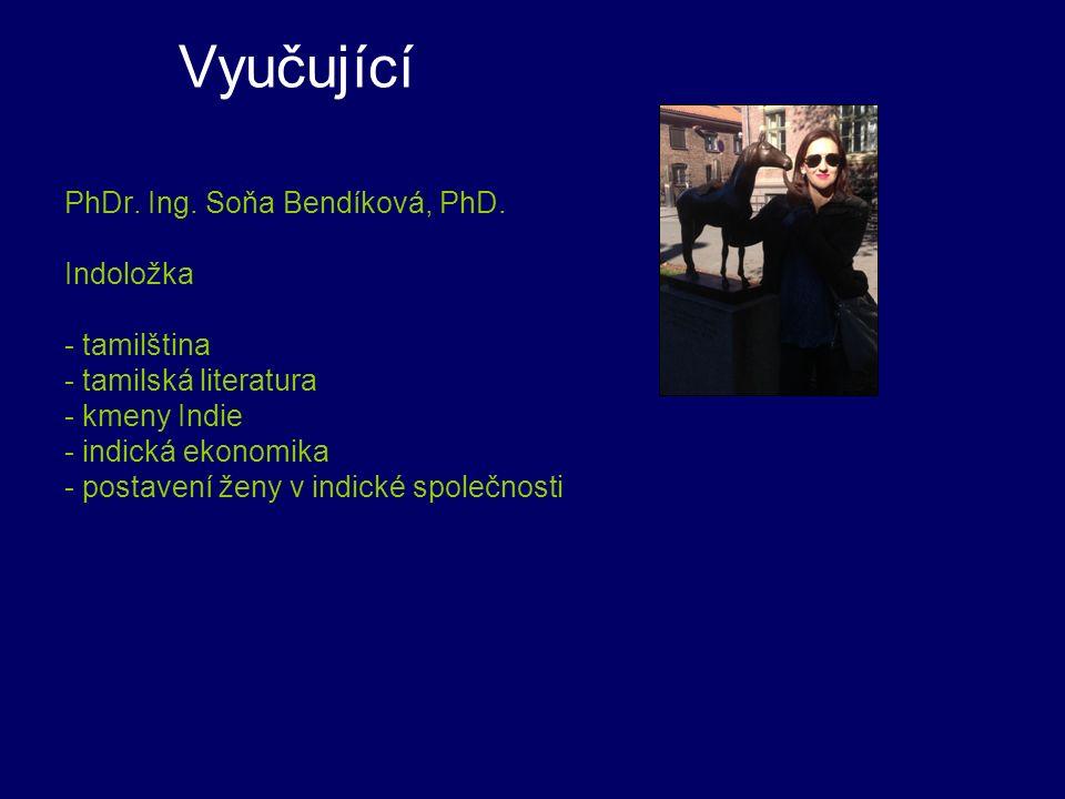 Vyučující PhDr. Ing. Soňa Bendíková, PhD.