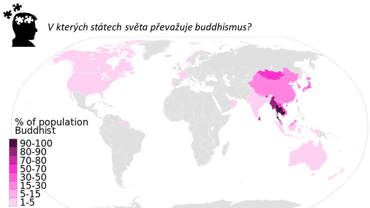 V kterých státech světa převažuje buddhismus?