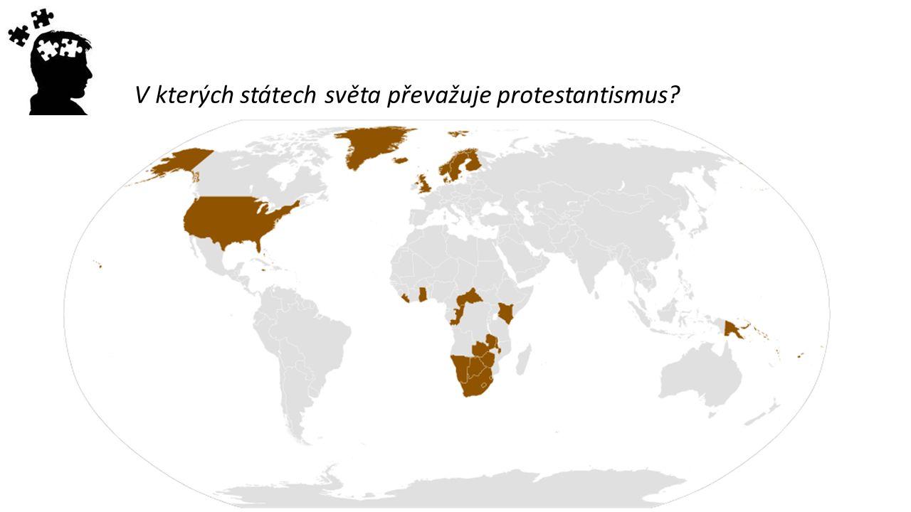V kterých státech světa převažuje protestantismus?