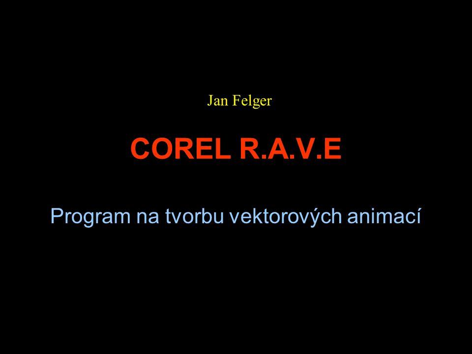 COREL R.A.V.E Program na tvorbu vektorových animací Jan Felger