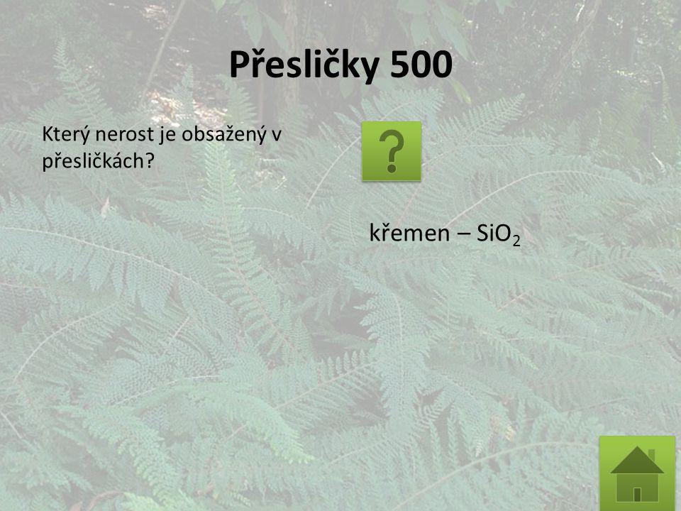 Přesličky 500 Který nerost je obsažený v přesličkách křemen – SiO 2