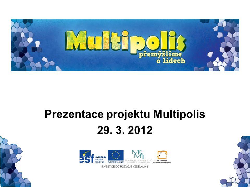 Internetové stránky Propagace projektu Podpůrné materiály Další návazné aktivity –Mozaika (ukázka) –Camino (ukázka) –Udělej si vlastní Multipolis