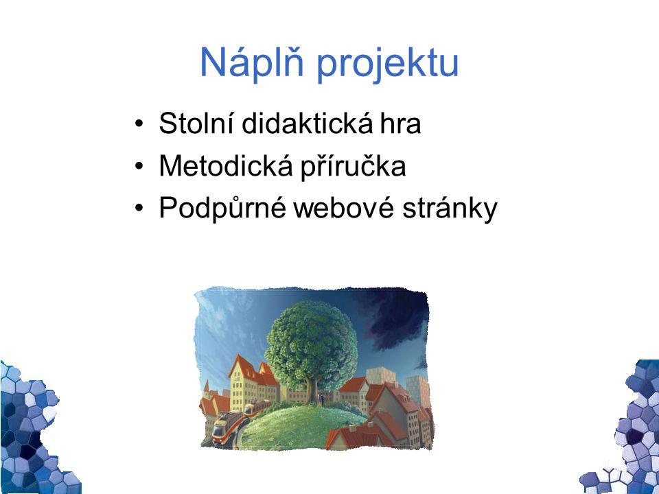 Náplň projektu Stolní didaktická hra Metodická příručka Podpůrné webové stránky