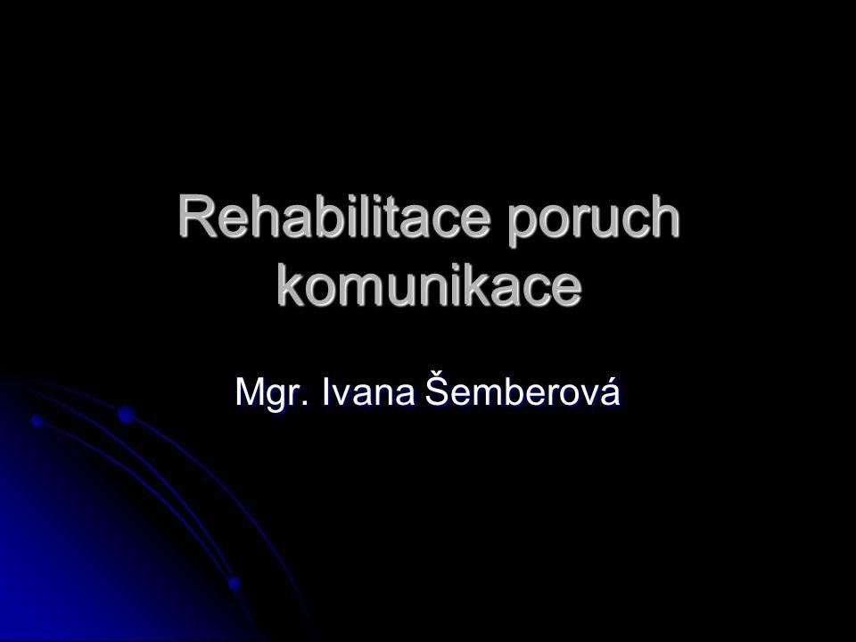 Rehabilitace poruch komunikace Mgr. Ivana Šemberová