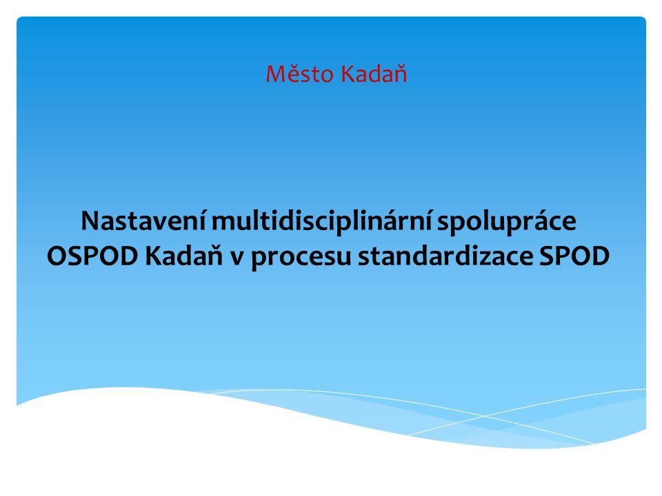 Město Kadaň Nastavení multidisciplinární spolupráce OSPOD Kadaň v procesu standardizace SPOD
