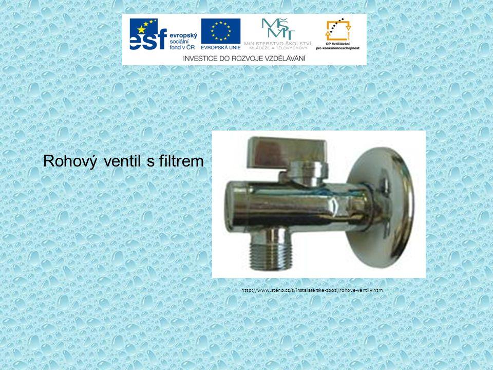 Rohový ventil s filtrem http://www.steno.cz/s/instalaterske-zbozi/rohove-ventily.htm