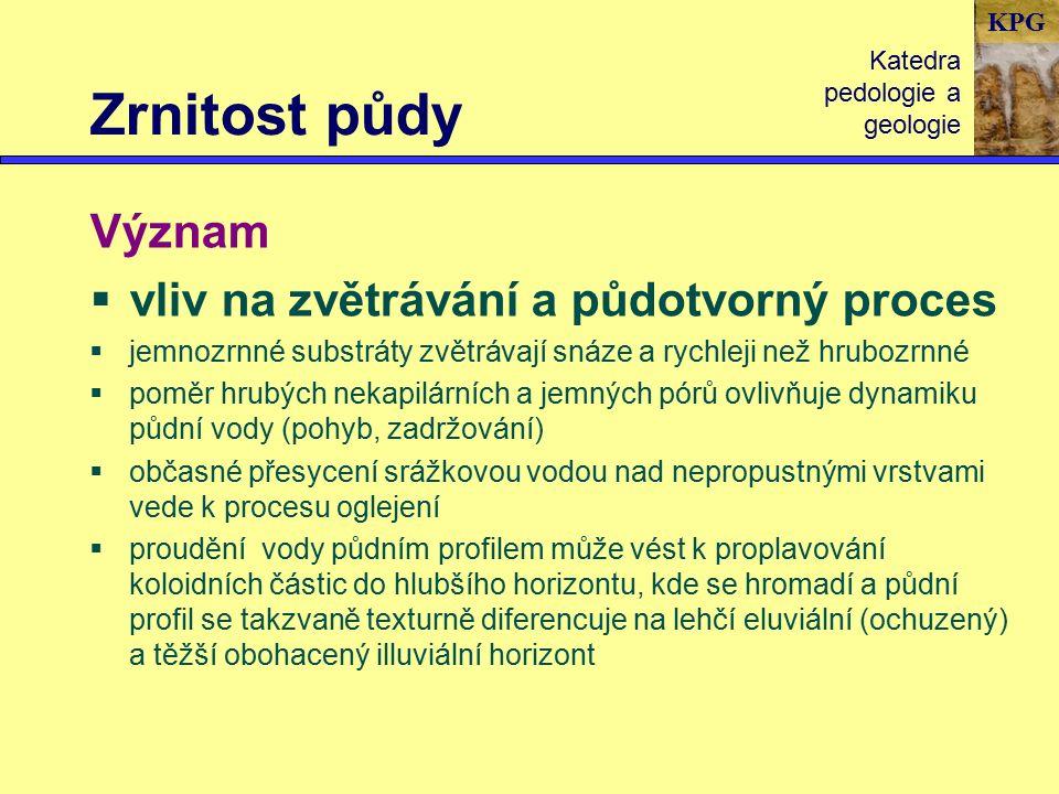 KPG Půdní reakce Katedra pedologie a geologie Půdní reakce patří k nejvýznamnějším charakteristikám půdy !!.