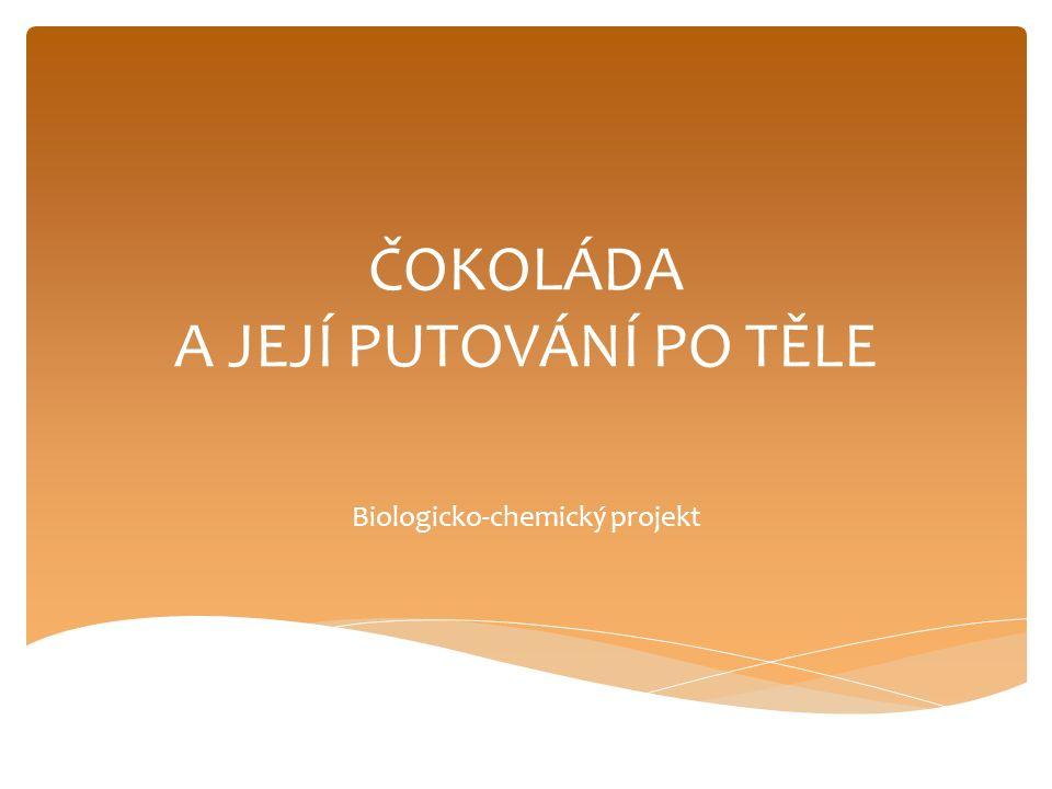 ČOKOLÁDA A JEJÍ PUTOVÁNÍ PO TĚLE Biologicko-chemický projekt
