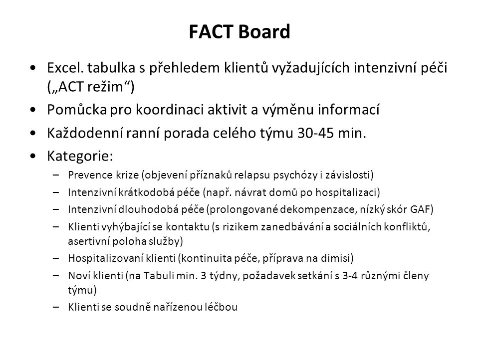 FACT Board Excel.