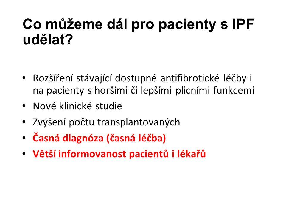 Co můžeme dál pro pacienty s IPF udělat.