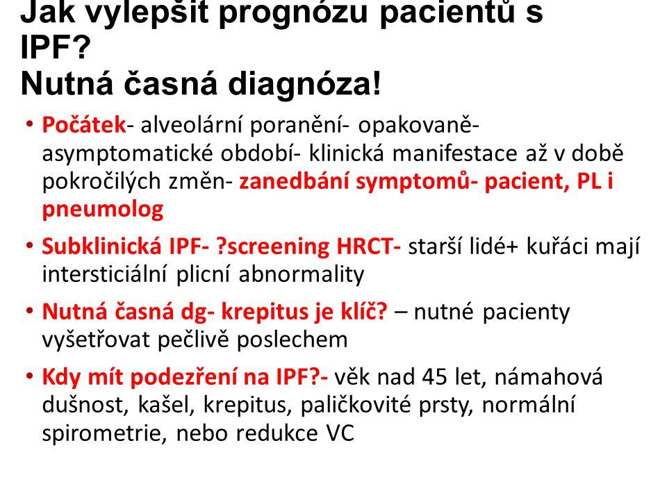 Jak vylepšit prognózu pacientů s IPF. Nutná časná diagnóza.