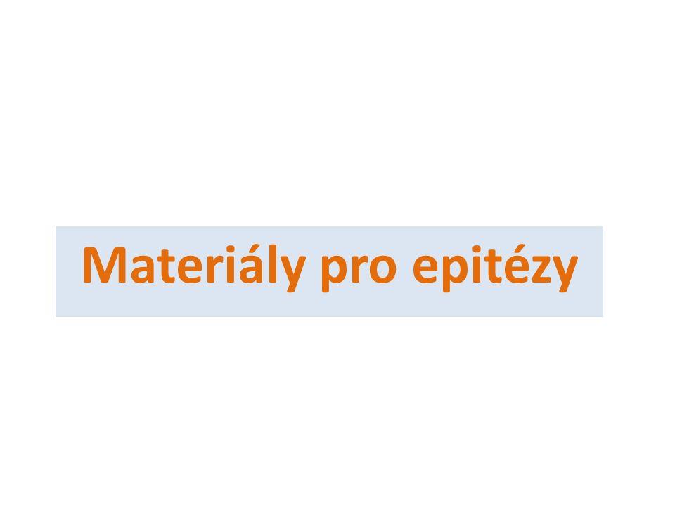 Materiály pro epitézy