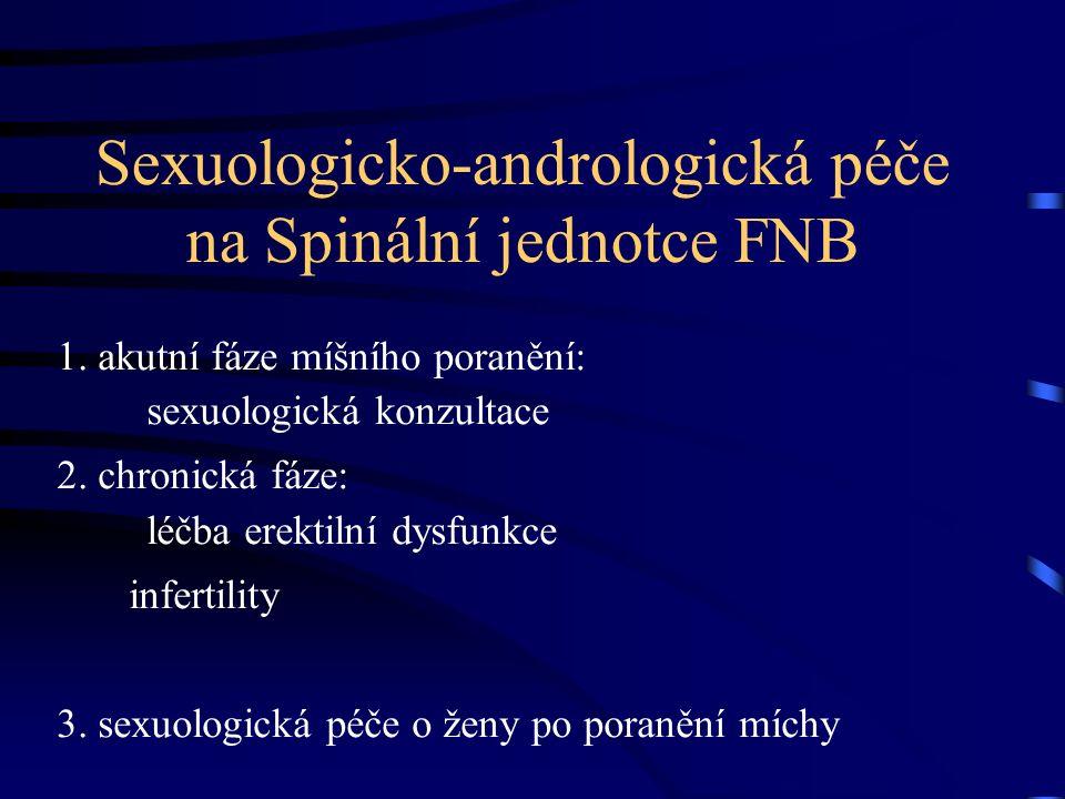 Sexuologicko-andrologická péče na Spinální jednotce FNB 1.