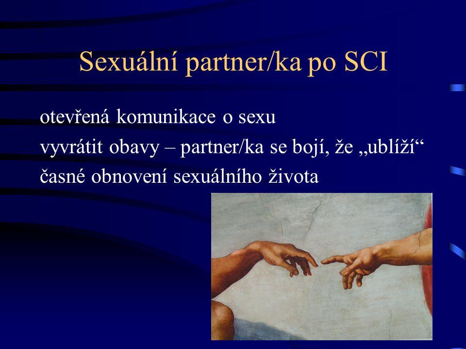 """Sexuální partner/ka po SCI otevřená komunikace o sexu vyvrátit obavy – partner/ka se bojí, že """"ublíží časné obnovení sexuálního života"""