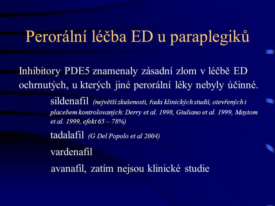 Perorální léčba ED u paraplegiků Inhibitory PDE5 znamenaly zásadní zlom v léčbě ED ochrnutých, u kterých jiné perorální léky nebyly účinné.