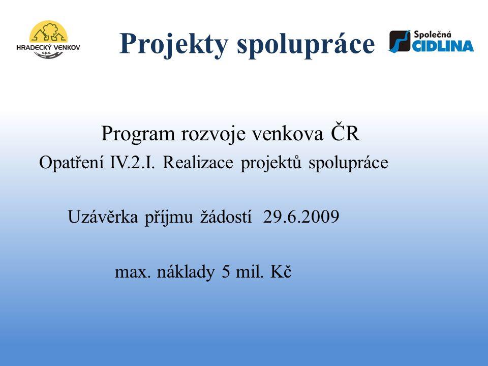 Projekty spolupráce Společná CIDLINA, o.s.