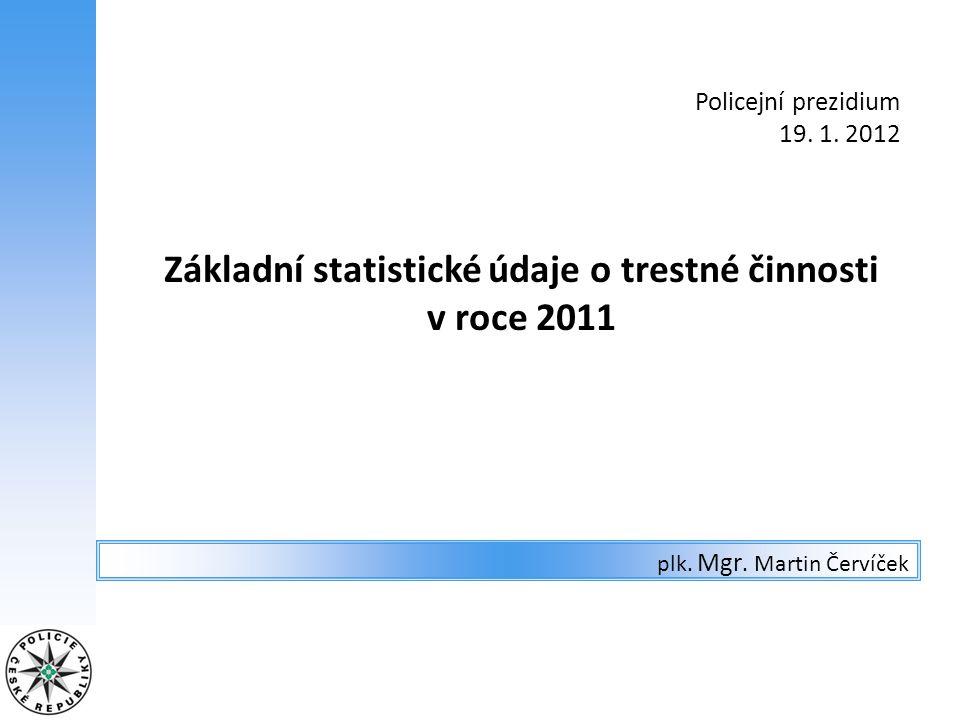 ČR – extremismus registrovánorozdíl rok 2010rok 2011Δv % vraždy 10-100,0% násilí na veřejném činiteli - na polic.