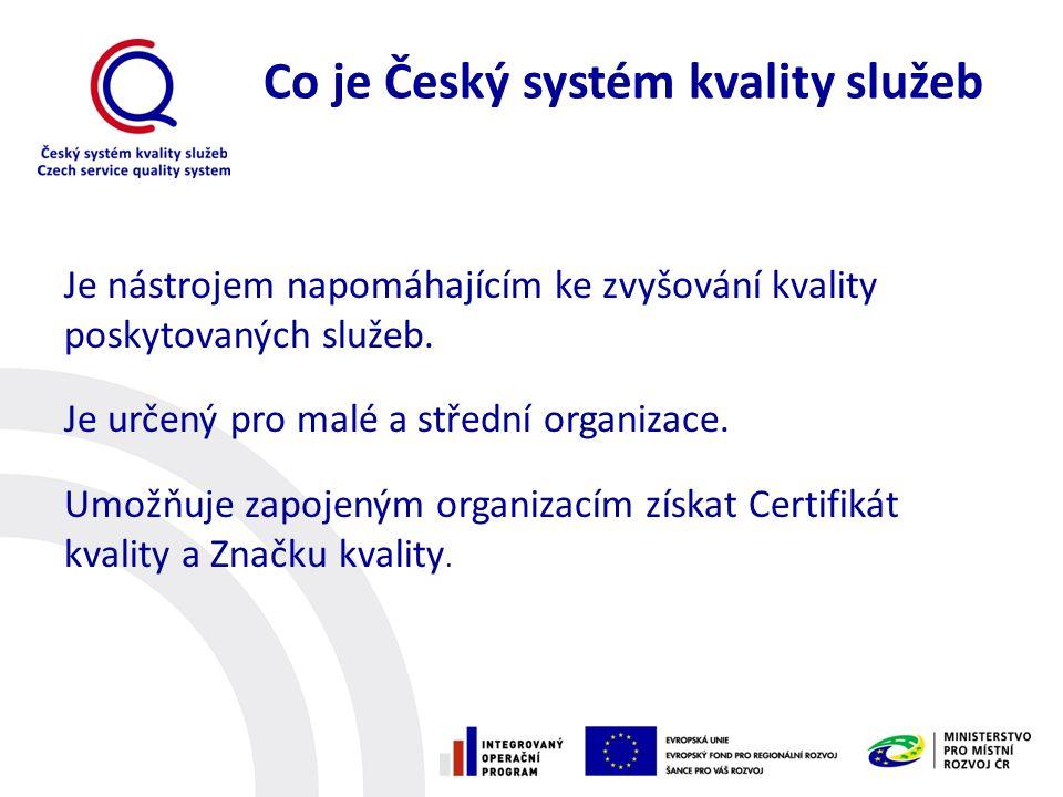 Co je Český systém kvality služeb Je nástrojem napomáhajícím ke zvyšování kvality poskytovaných služeb.