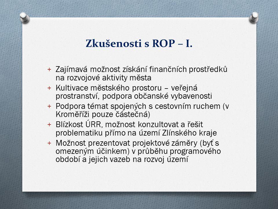 Zkušenosti s ROP – I.