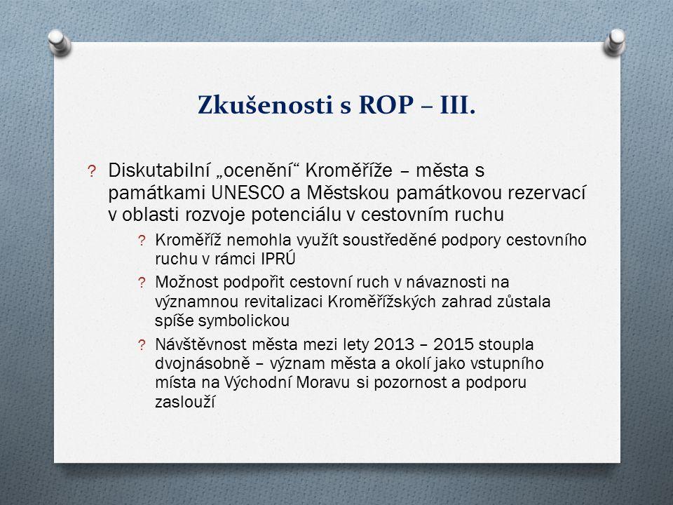Zkušenosti s ROP – III.