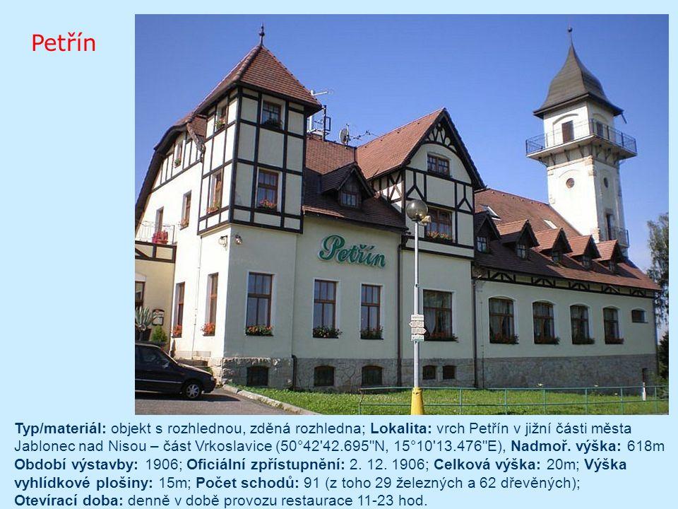 Typ stavby - betonová rozhledna vznik - 1998 přístup - Rozhledna přístupná od května do října mezi 10 – 16.hod kóta - 1315 výška věže - 37 m výška vyhlídkové plošiny - 30 m počet schodů – 223 Plzeňský kraj, okres Klatovy Poledník
