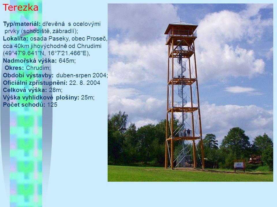 Rozhledna na Čubově kopci Typ/materiál: dřevěná rozhledna Lokalita: Čubův kopec, cca 2km východně od Francovy Lhoty, cca 25km jihovýchodně od Vsetína GPS: 49°11 41.243 N, 18°7 56.746 E Nadmořská výška: 720m Okres: Vsetín Období výstavby: léto 2004 Oficiální zpřístupnění: 20.