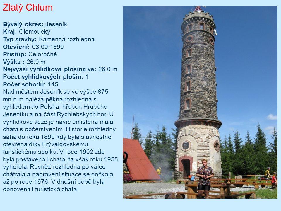 Terezka Typ/materiál: dřevěná s ocelovými prvky (schodiště, zábradlí); Lokalita: osada Paseky, obec Proseč, cca 40km jihovýchodně od Chrudimi (49°47 9.641 N, 16°7 21.466 E), Nadmořská výška: 645m; Okres: Chrudim; Období výstavby: duben-srpen 2004; Oficiální zpřístupnění: 22.