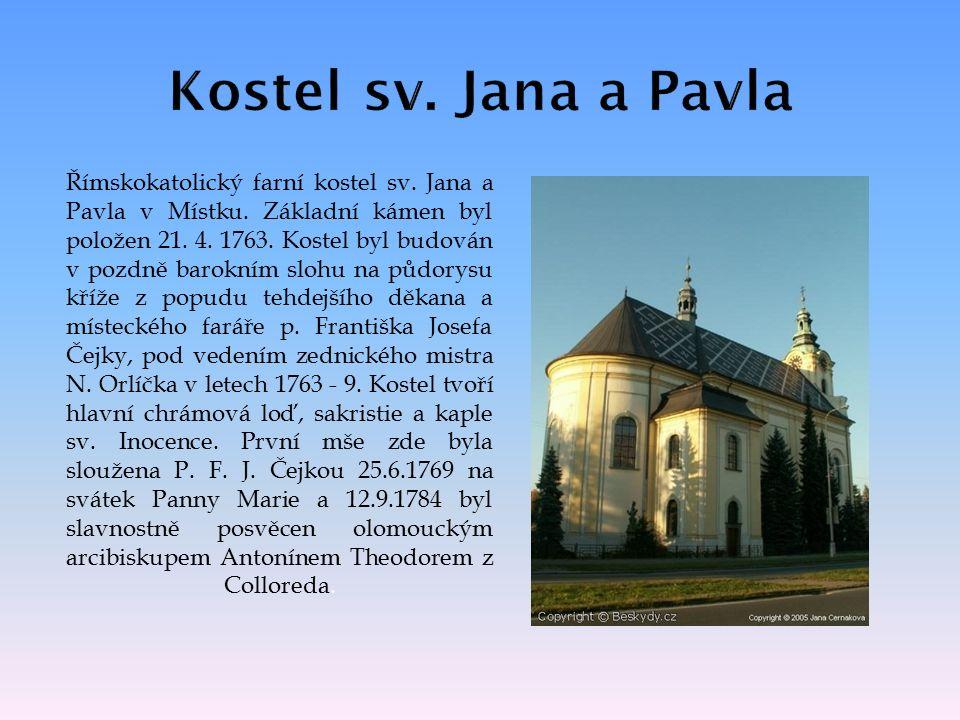 Římskokatolický farní kostel sv. Jana a Pavla v Místku.