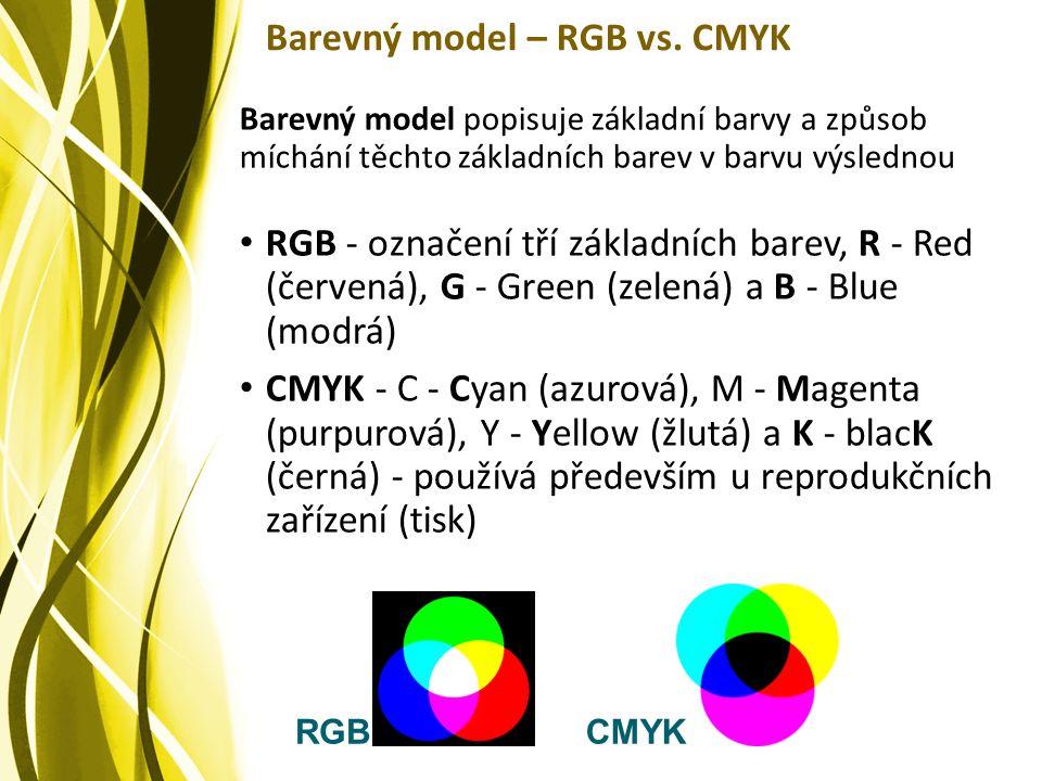 Barevný model – RGB vs.