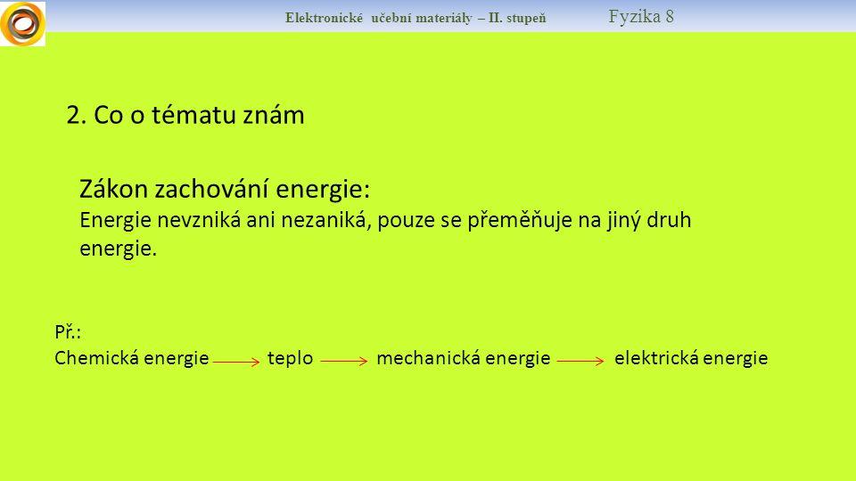 Elektronické učební materiály – II. stupeň Fyzika 8 2.