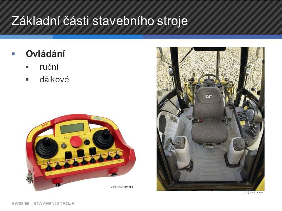 Základní části stavebního stroje  Ovládání  ruční  dálkové BW06/56 - STAVEBNÍ STROJE Zdroj: www.cat.com Zdroj: www.eletrika.cz