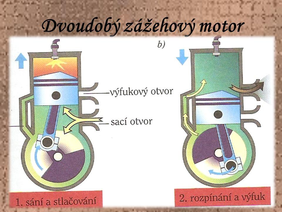 Dvoudobý zážehový motor