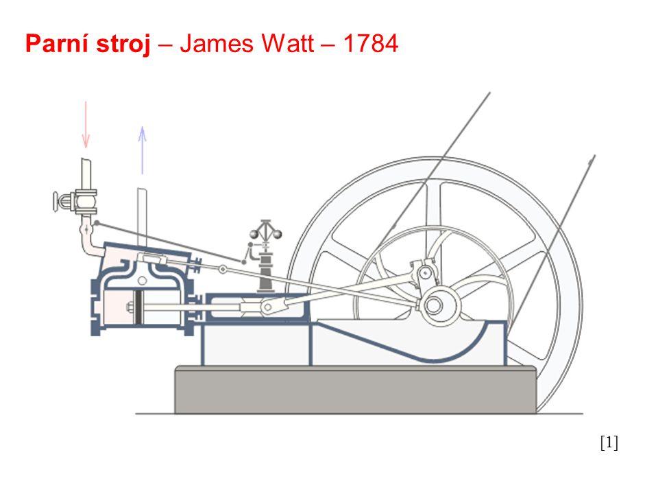 Parní stroj – James Watt – 1784 [1]