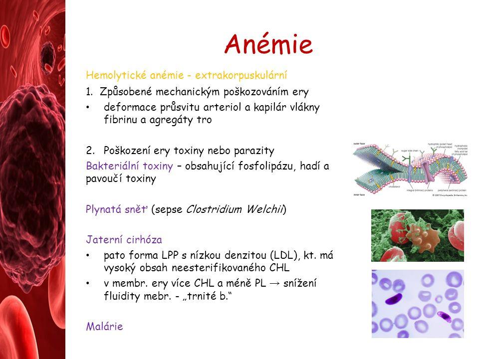 Anémie Hemolytické anémie - extrakorpuskulární 1.