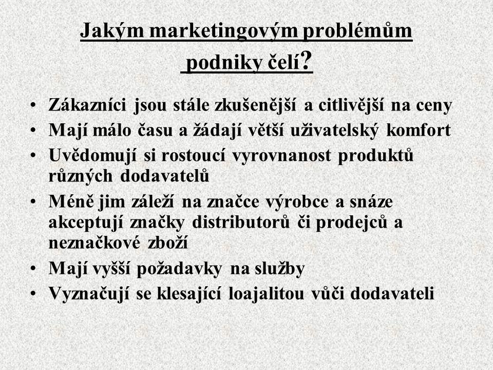 Jakým marketingovým problémům podniky čelí .