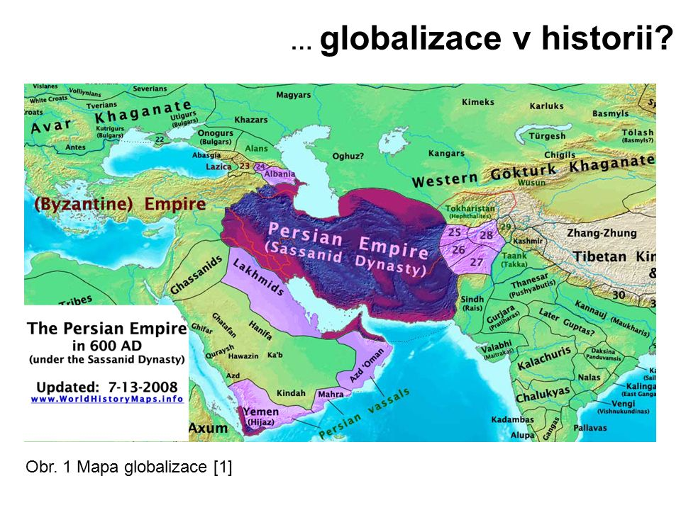 … globalizace v historii? Obr. 1 Mapa globalizace [1]