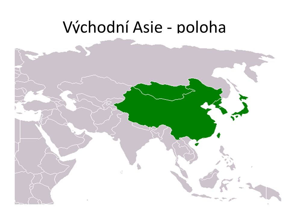 Východní Asie - poloha