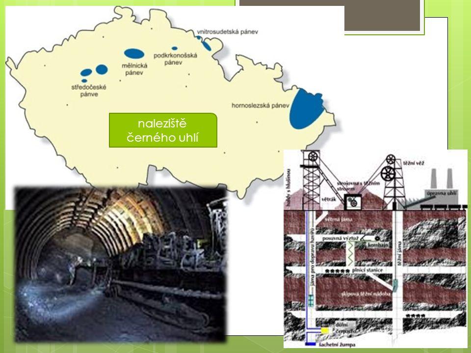 naleziště černého uhlí