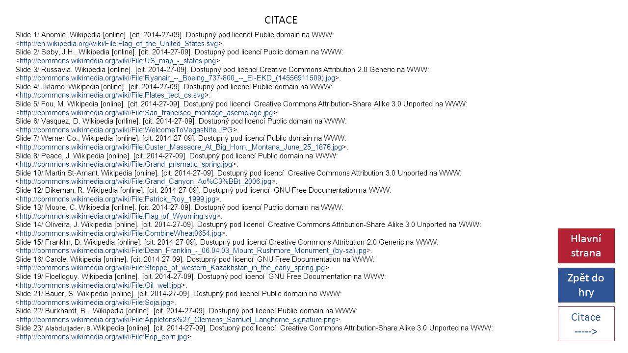 CITACE Slide 1/ Anomie. Wikipedia [online]. [cit.
