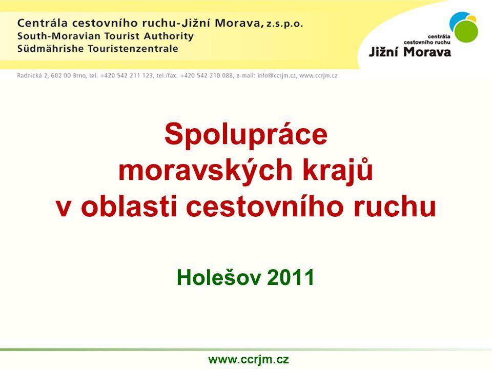Spolupráce moravských krajů v oblasti cestovního ruchu Holešov 2011 www.ccrjm.cz