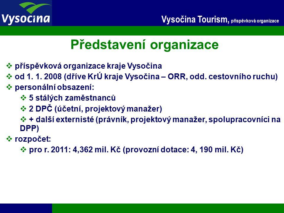 27.9.2016 13 Vysočina Tourism, příspěvková organizace Partnerství v projektech  Významné turistické akce a cíle východní části České republiky  předkladatel projektu: Centrála cestovního ruchu Východní Moravy  IOP  celk.