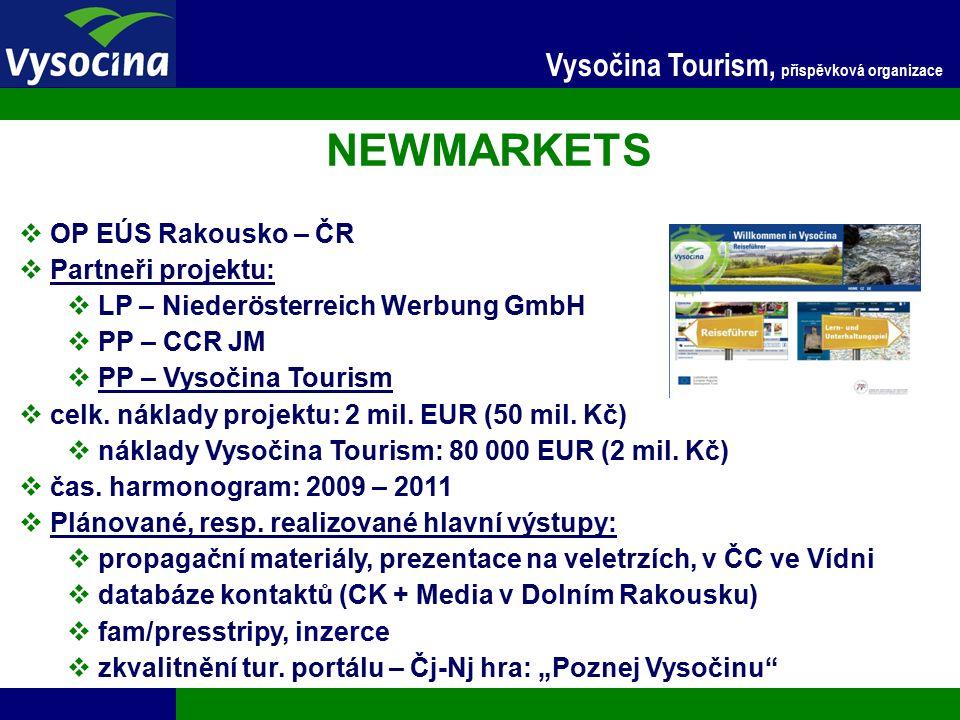 27.9.2016 8 Vysočina Tourism, příspěvková organizace Marketing turistické nabídky kraje Vysočina  ROP JV – 2.2  celk.