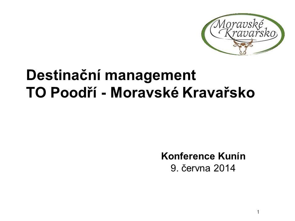 Destinační management TO Poodří - Moravské Kravařsko Konference Kunín 9. června 2014 1