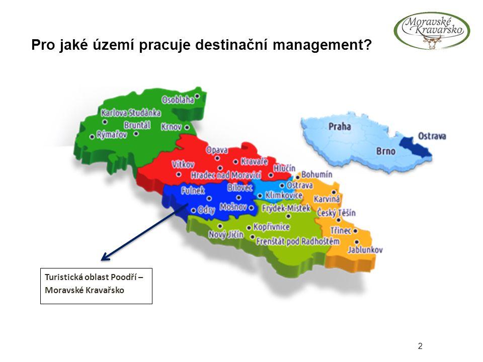 Pro jaké území pracuje destinační management 2 Turistická oblast Poodří – Moravské Kravařsko