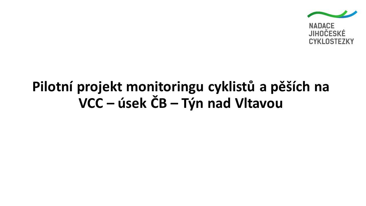 Pilotní projekt monitoringu cyklistů a pěších na VCC – úsek ČB – Týn nad Vltavou