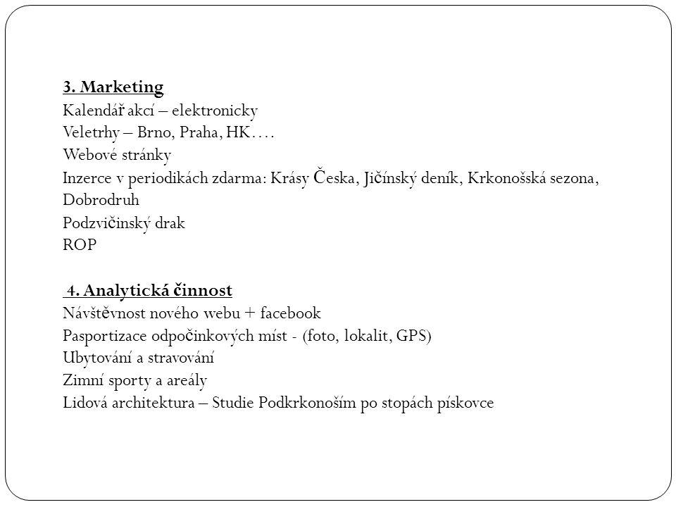 3.Marketing Kalendá ř akcí – elektronicky Veletrhy – Brno, Praha, HK….