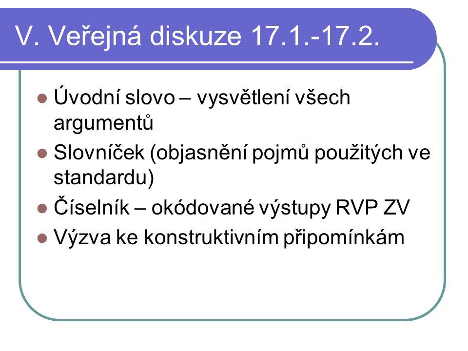 V. Veřejná diskuze 17.1.-17.2.