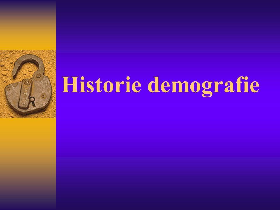 Historie demografie