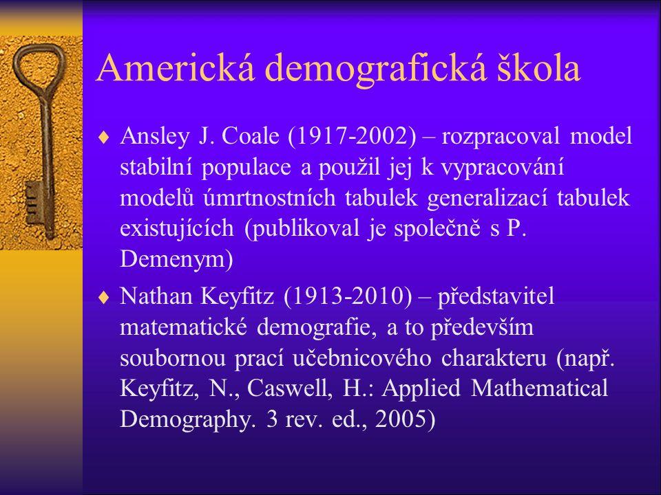 Americká demografická škola  Ansley J.